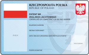 Patent żeglarza jachtowego - wzór, awers